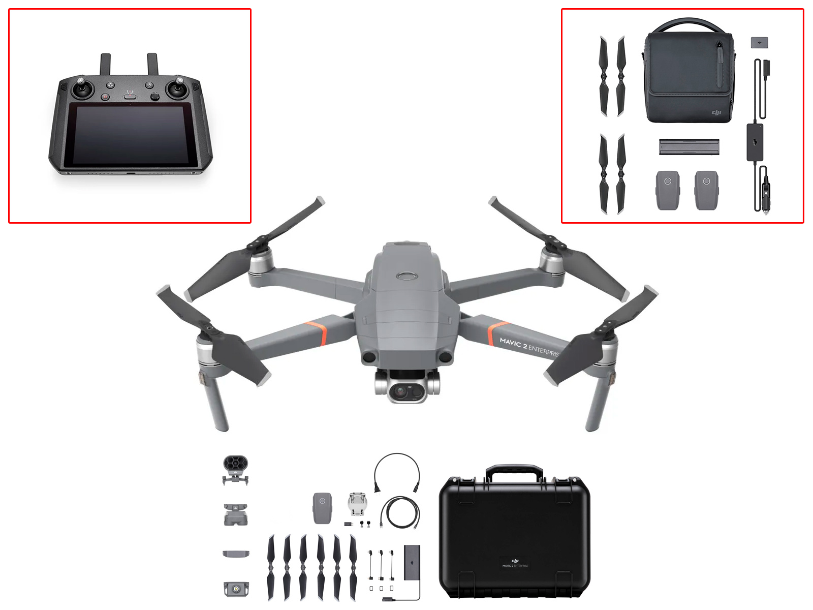 DJI Mavic 2 Enterprise Dual со Smart Controller + Fly More Enterprise Kit